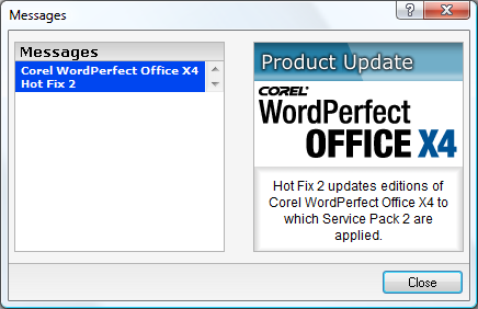 Hotfix 2 for WordPerfect Office X4